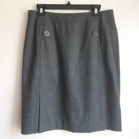 Talbots Dresses & Skirts - Talbots A-line Wool Skirt Size 14 Gray Career
